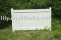 white privacy pvc fence panel