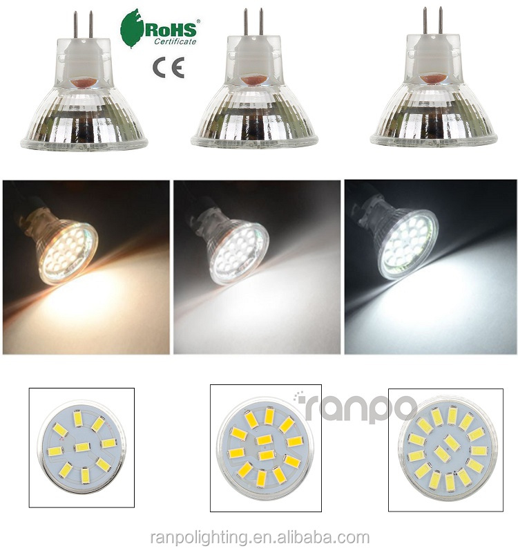 High CRI LED MR11 Spots Bulbs Spotlight 2835 5733 SMD 10W 20W Halogen Lamp Replacement 12-24V Glass Type