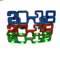 LED 2018 Flashing classic three new year Glasses