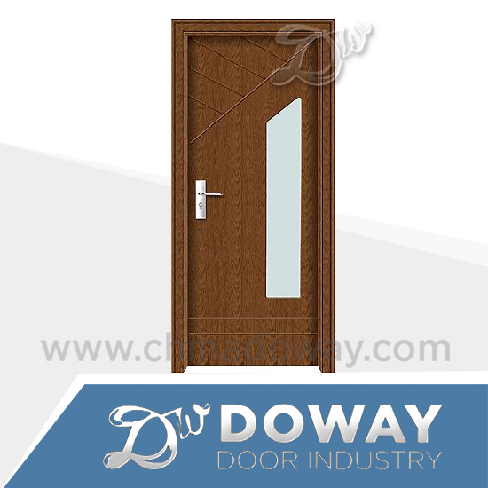 Tempered glass office swing half doors