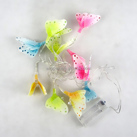 Event & Party Supplies 10LED Spring Decorative Fiber Optic Butterfly Fairy Lights String Lights
