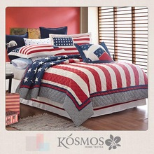 KOSMOS- 50% cotton 50% polyester bed sheet patchwork quilt