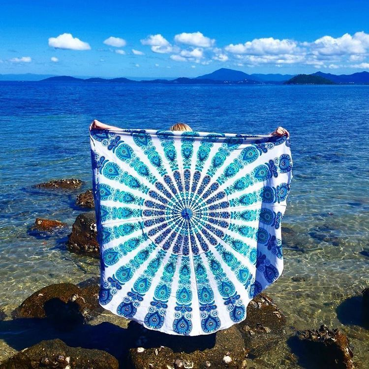 Factory direct new round colorful polyester towel beach shawl mat 150 * 150cm