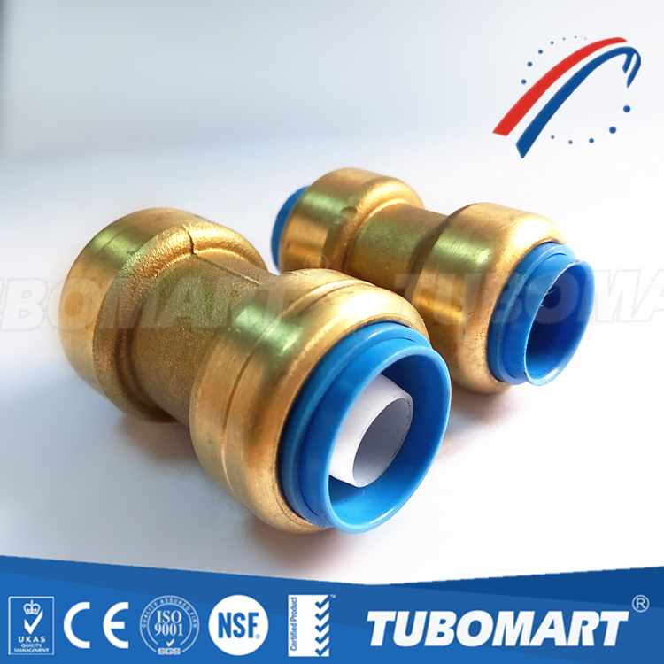 Brass Push In Fitting lead Free Connect Copper / Pex / CPVC pipes