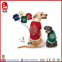 China Supplier pet toy custom dog t-shirt wholesale dog clothes