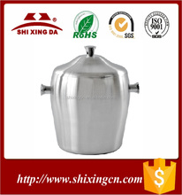 Fashion Design stainless steel cooler/led ice bucket /wholesale beer bucket with lid