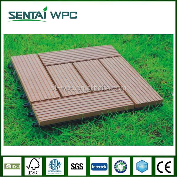 Anti slip professional anti aging wooden terrace tiles
