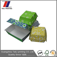 Disposable paper burger box food packaging burger clamshell