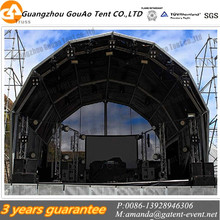 New Design Polygon Tent Use For Music Festival With Black PVC