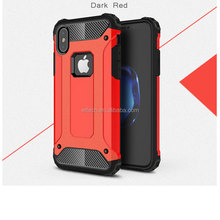 Free sample two in one hard plastic shockproof phone case for iPhone X