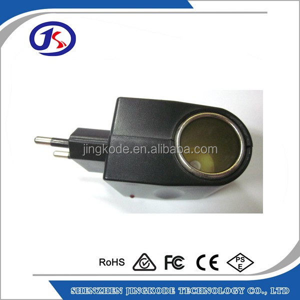 car plug to female car cigarette lighter socket US EU UK plug DC 12v to ac 220v car power adapter