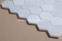 king century polished marble white hexagon mosaic floor tile for kitchen bathroom flooring