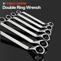 carbon steel wrench drop forged double offset ring wrench double ring wrench