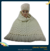 Winter fashion cream cable knitted thick scarf/ Hotsale factory acrylic Women's accessories scarf