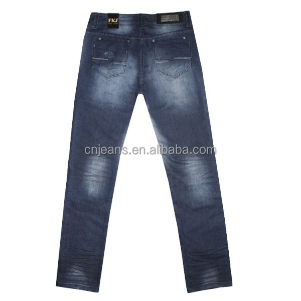 Sale Wholesale 2014 New Blue Style Fashion Washed New Young Men Jeans