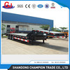 3 Fuwa Axles 80 Tons Flat Lowbed Semi Truck Trailer