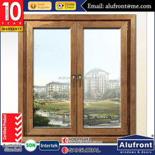 Australia AS2047 standard aluminum clad wood casement window with screen