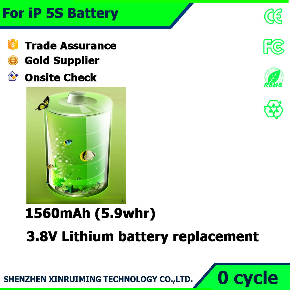 Factory Wholesale superior Cell phone batteries for iPhone 5S Battery replacement brand new battery changement