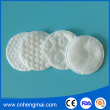 Cleansing Cosmetic Embossing Cotton Absorb Pads for Make up and Remove
