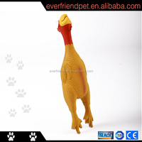 2015 hot sell Squeaky Soft Chicken Latex Chicken Dog Toy