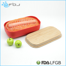 100% Biodegradable Reusable Bamboo Fibre Natural Bento Lunch Box