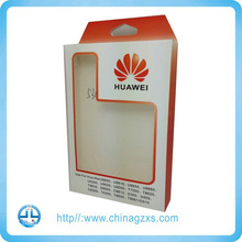 mobile cell phone accessory packaging case with clear window