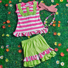 Wholesale boutique remakes mint summer dora childrens clothing M5050604