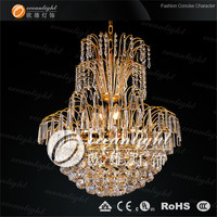 modern crystal ship chandelier,brass classic pendant lamp OW568