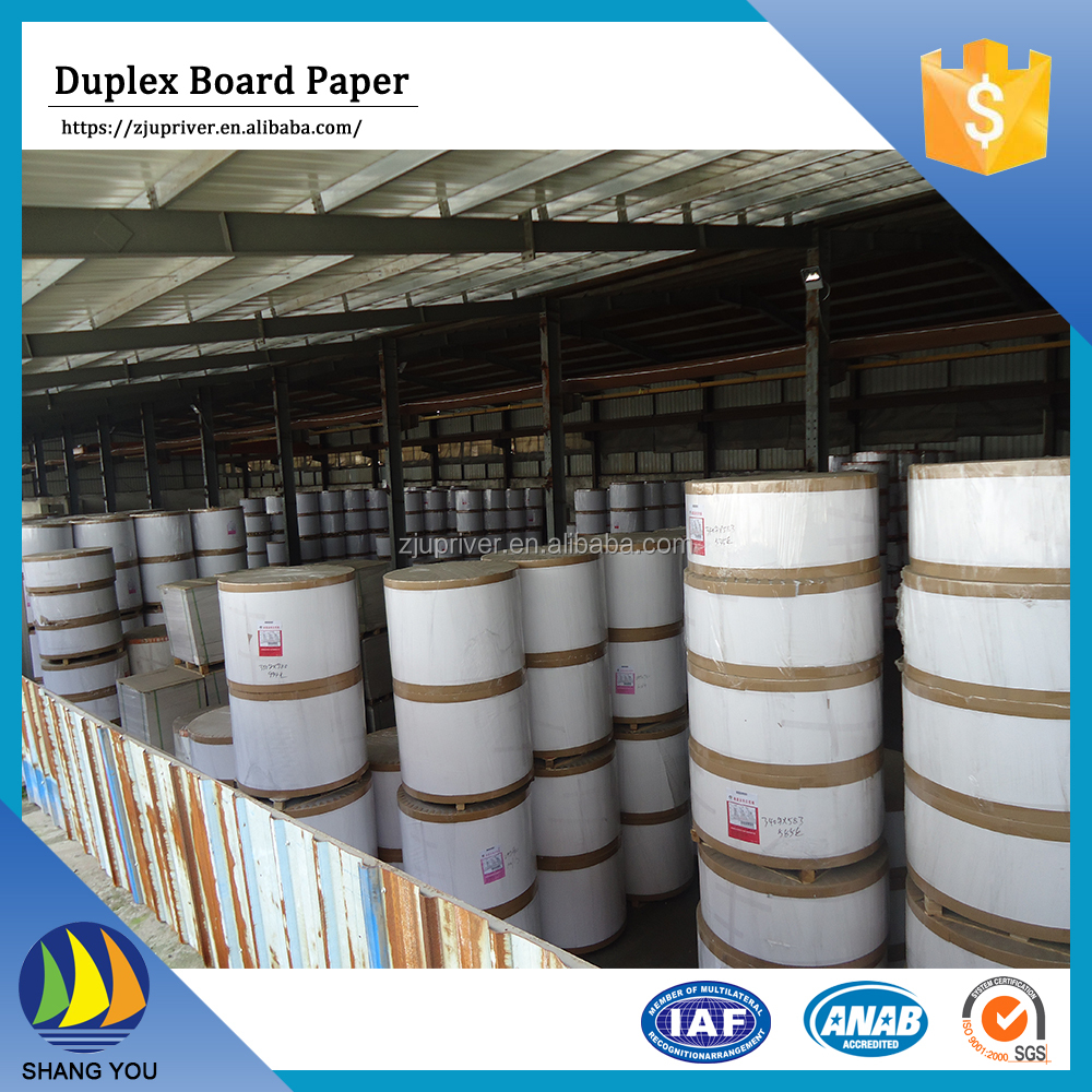 China wholesale paper carton duplex cardboard grey back