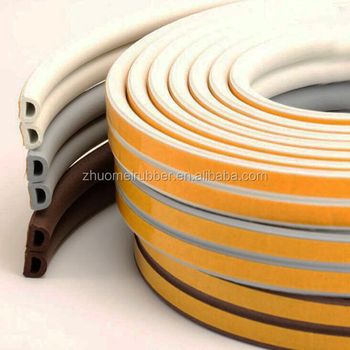 D shape self adhesive epdm rubber sealing strip