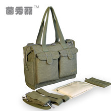 Antimicrobial Multi-functional Canvas Diaper Bags