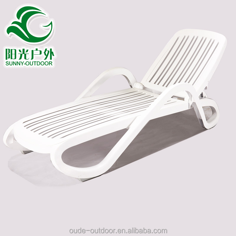 Factory manufacturer direct wholesale hotel beach plastic lounge chairs