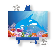 Shark pattern diamond painting to canvas for children diy