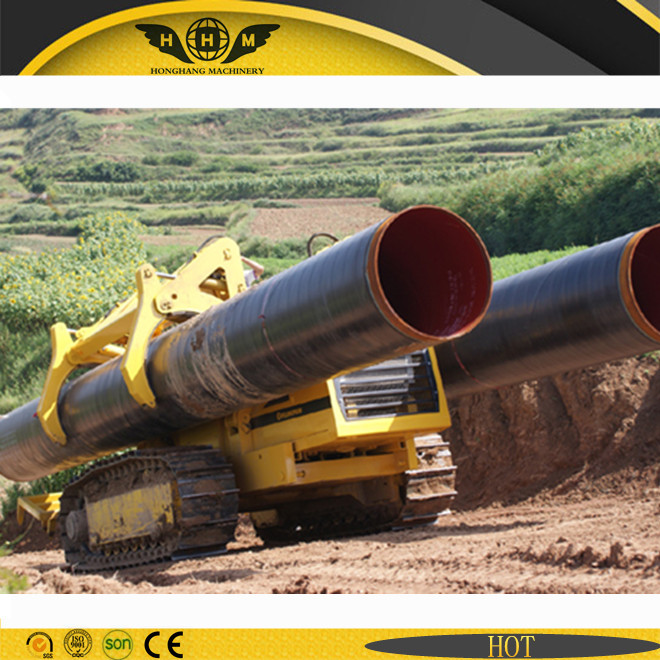 Track type pipe carrier working on oil gas pipeline construction