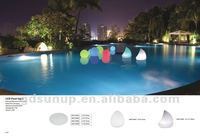 Magic led ball/oval ball/led shine ball for swimming pool