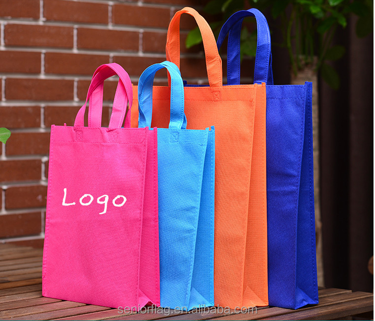 pictures printing non woven cloth shopping bag with logo