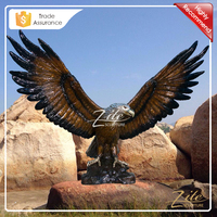 Outdoor Decoration life size metal eagle sculpture