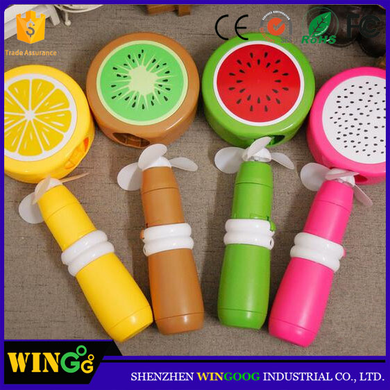 Nuevos productos 2017 mini fan handheld fruit design