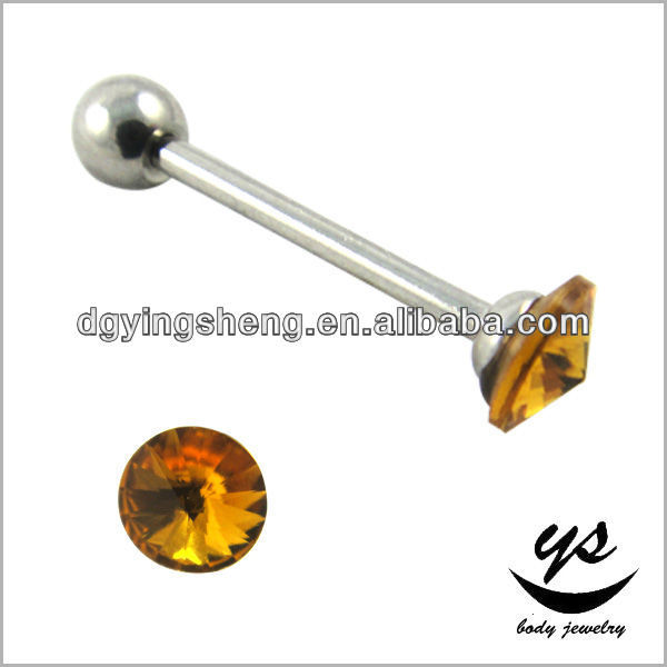 Stainless Steel Pin Diamond body jewelry tongue piercing For Body Jewelry