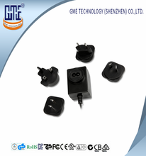 Various Wall Plug of 24W Series Interchangeable adapter with CE,FCC,UL Approved
