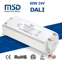 ISO standard IEC 62386 constant voltage dimmable dali led driver 60W 24V
