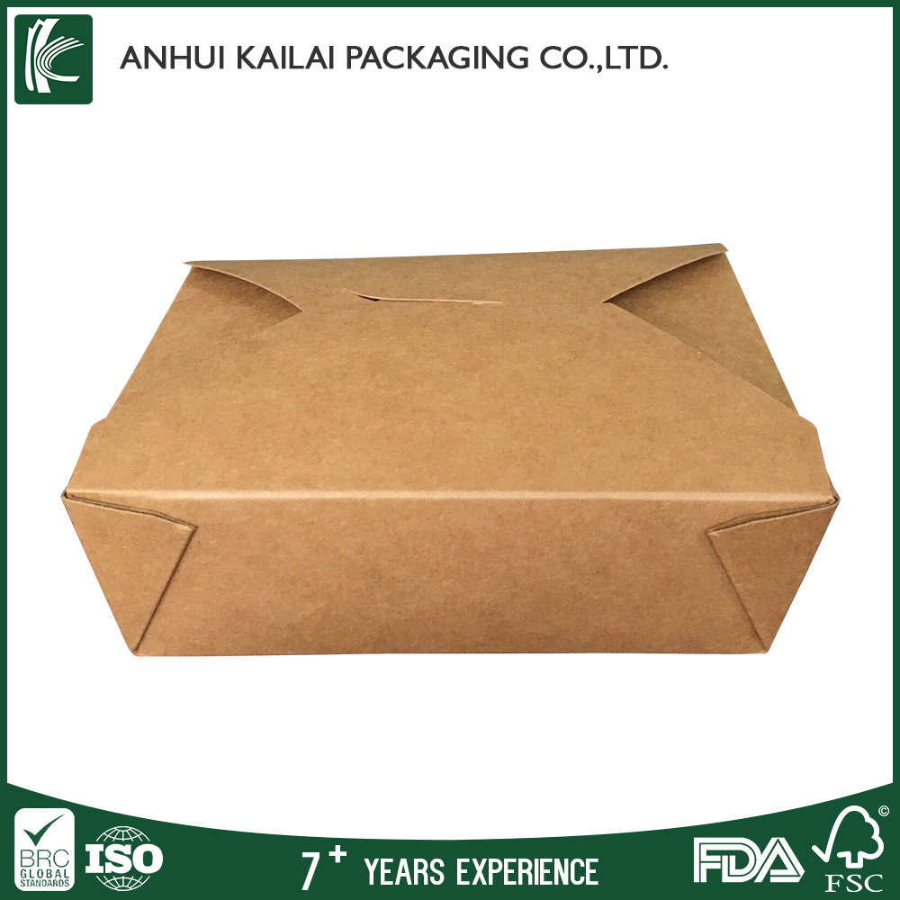 Factory Supplier Kraft take out boxes