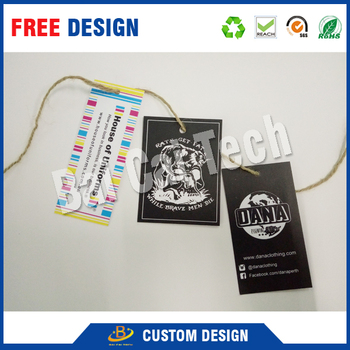 Customize best price clothing swing garment tags