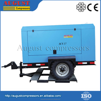 SCY37 AUGUST Professional Maker Portable Diesel Enging Rotary Air Screw Compressor