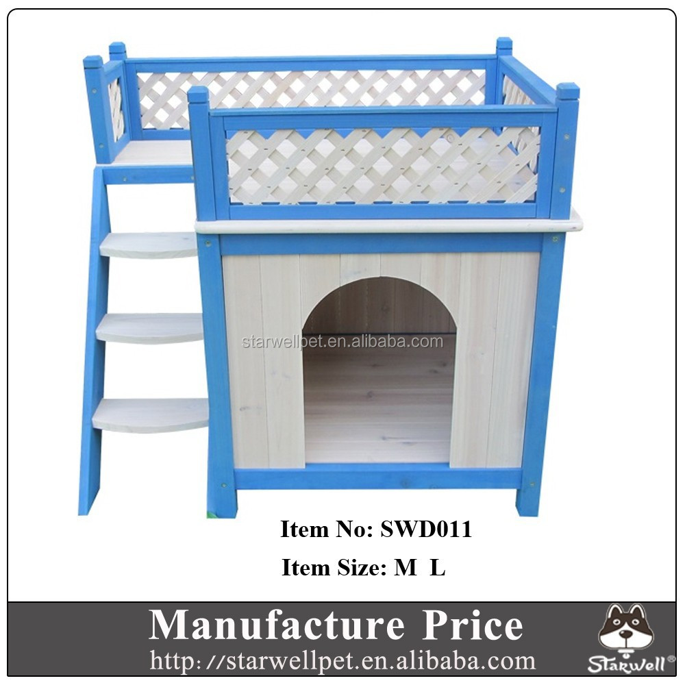 High quality outdoor unique design best wooden dog kennel