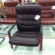 Made in China Black PU leather executive office chair computer chair with plastic arm rest