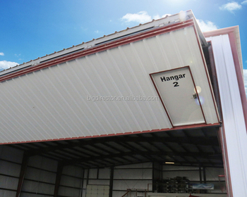 Long Span Competitive Pre Engineered Metal Frame Steel Aircraft Hangar Building