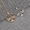 Wholesale fashion more colors Zinc Alloy necklace heart with word mom