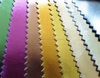 Eco-friendly metallic foil pu synthetic leather for shoe lining