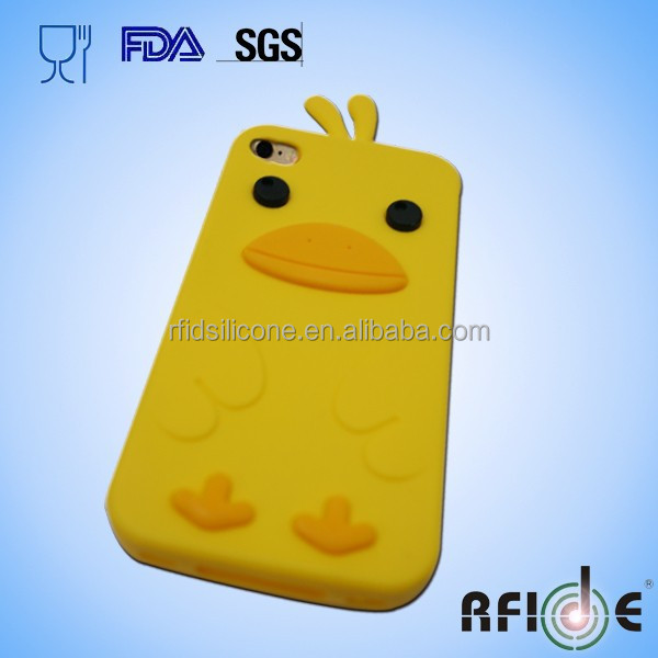 Duck-shaped Silicone mobile phone case for iphone 6